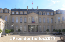 Le Palais de l'Elysée avant les présidentielles 2017